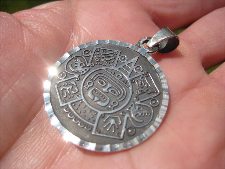 925  Silver Aztec Pendant Wind God Ehecatl Taxco Mexico A96455