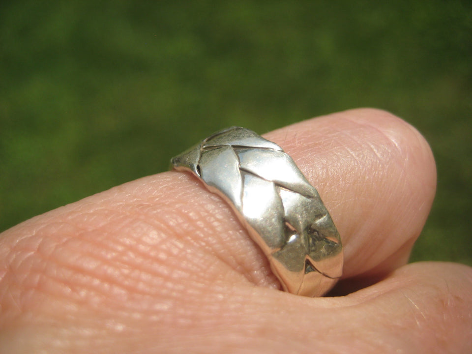 925 Silver Band Ring Taxco Mexico Size 7.75 A6399