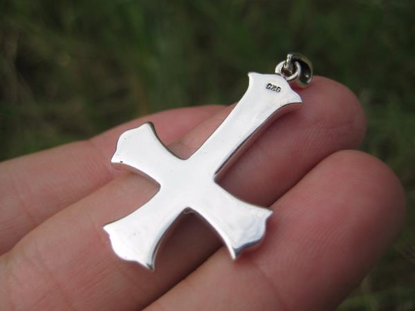 925 Silver Celtic inverted Petrine Cross Saint Peter Pendant