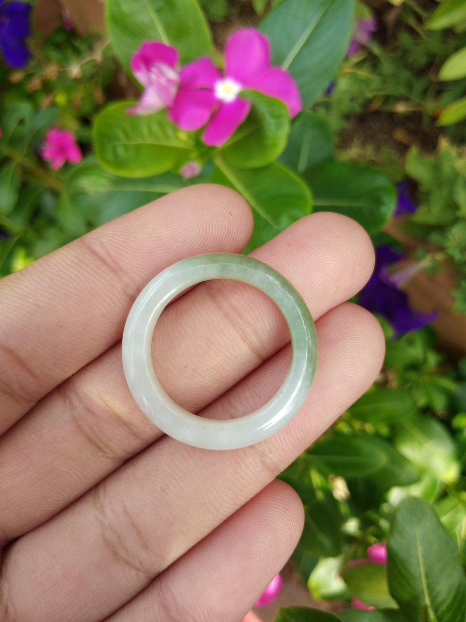 Natural Jadeite Jade ring Thailand jewelry stone mineral size  10.5 US  EB 065
