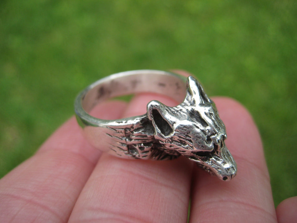 925 Silver Wolfl Ring Taxco Mexico Size 9 A3636