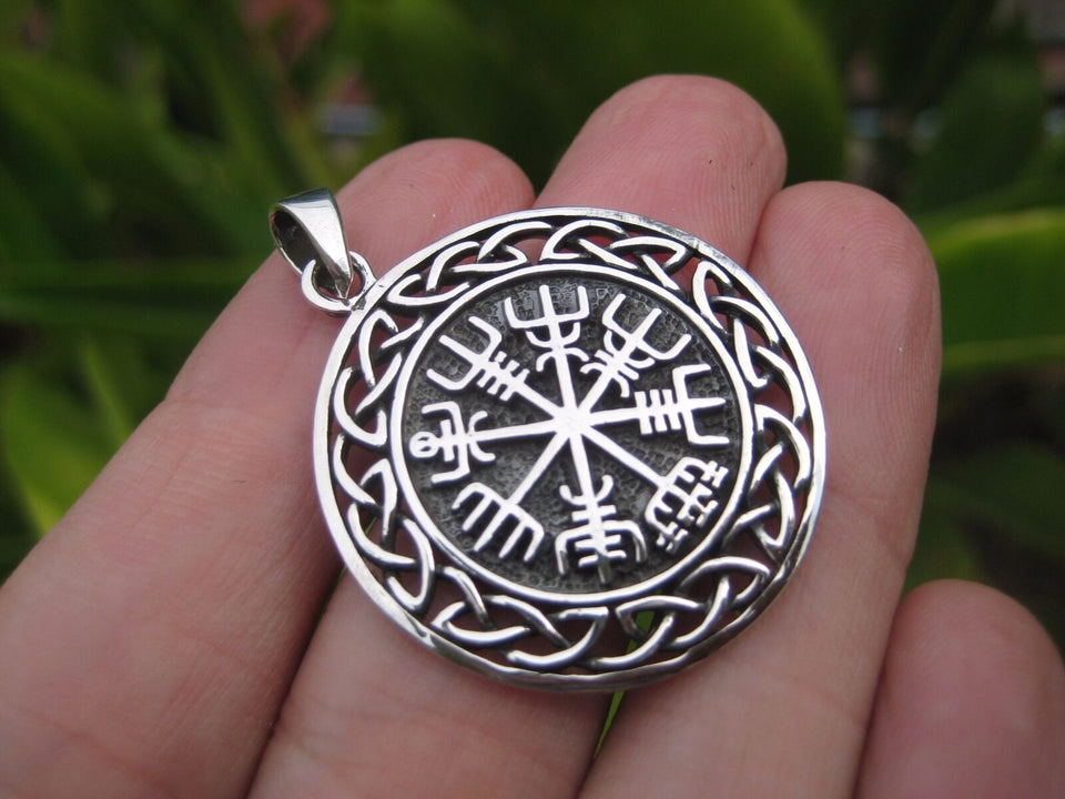 925 Silver Viking Norse Celtic Trident Pendant Necklace jewelry Art A17