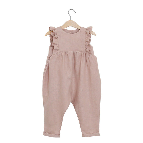 Ruffle Romper | Powder