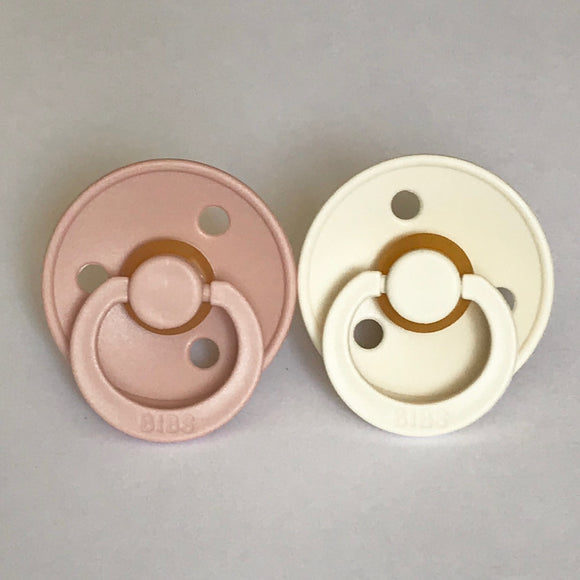 BIBS Pacifiers | Blush + Ivory (2-pack)