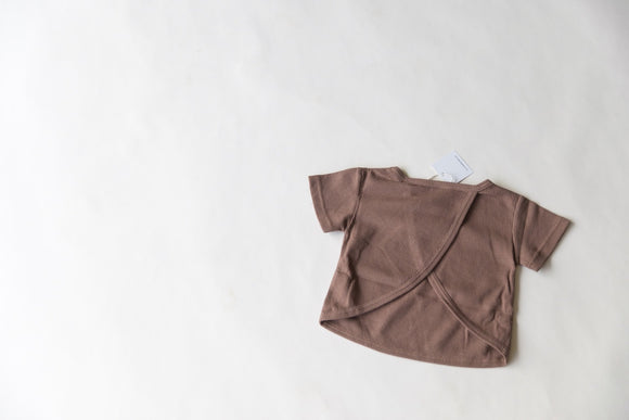 Open Back Tee | Brown