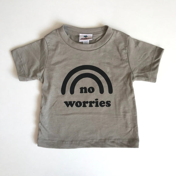 No Worries Tee | Heather Stone