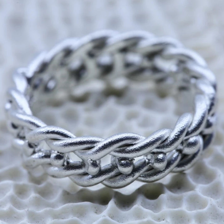 Double Dot Double Twist Viking Band Groupie Ring