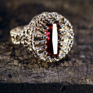 Cats Eye Ruby Ring