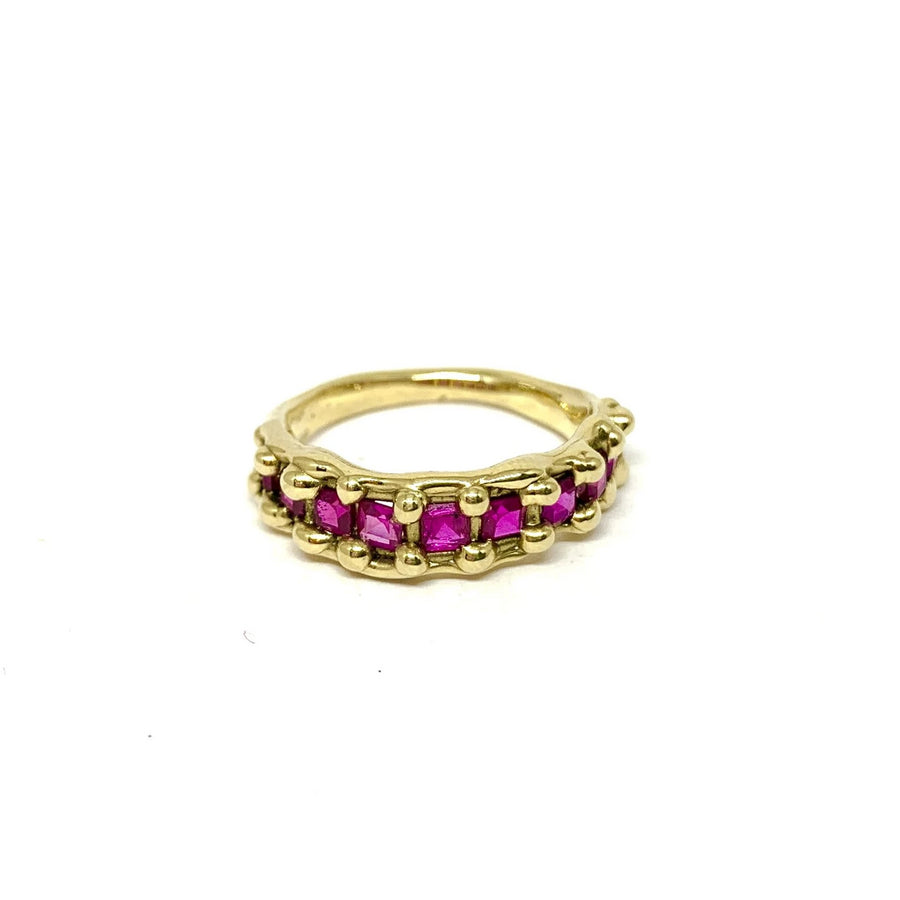 Gold and Ruby band