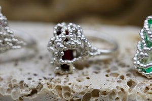 Engulfed Nest Ruby Ring