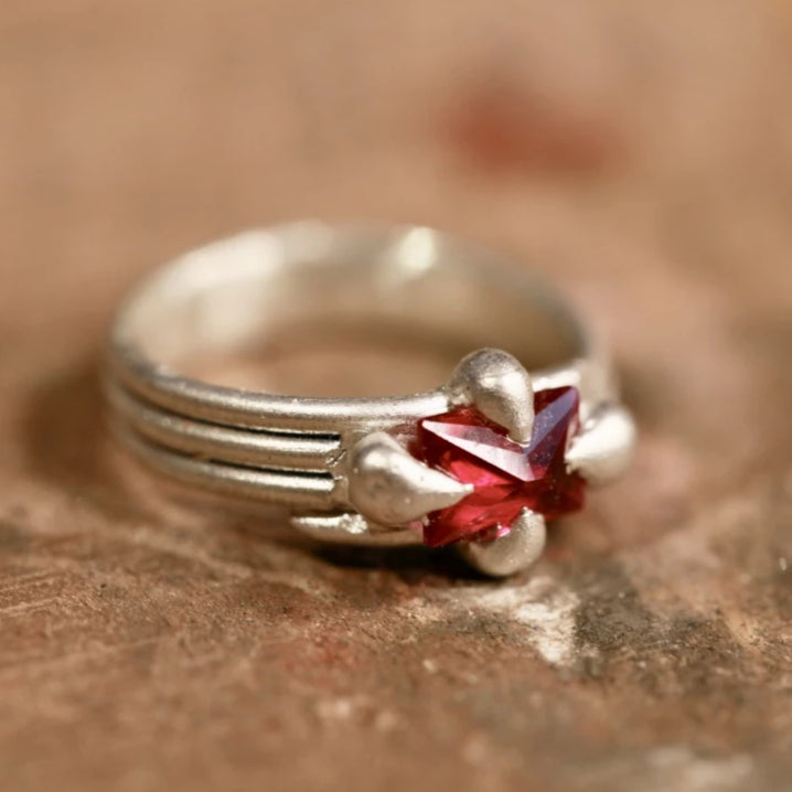 Wrapped Claw Ruby Ring