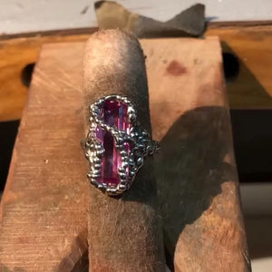 Danielle's Pink Sapphire Encrusted Ring