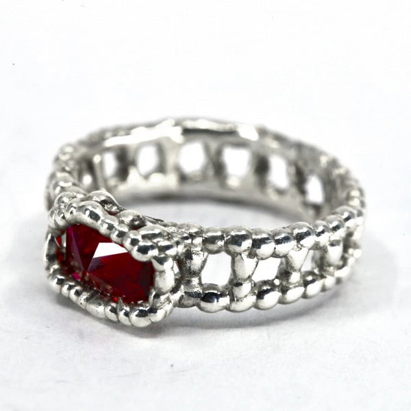 Silver Ruby Band