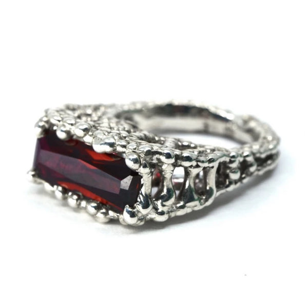 Caged Ruby Ring
