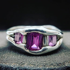 Naomi's Silver and Pink Sapphire Ring