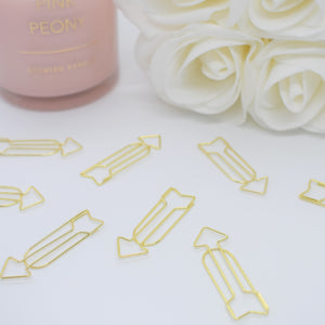 Gold Arrow Paperclips