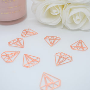 Rose Gold Diamond Paperclips