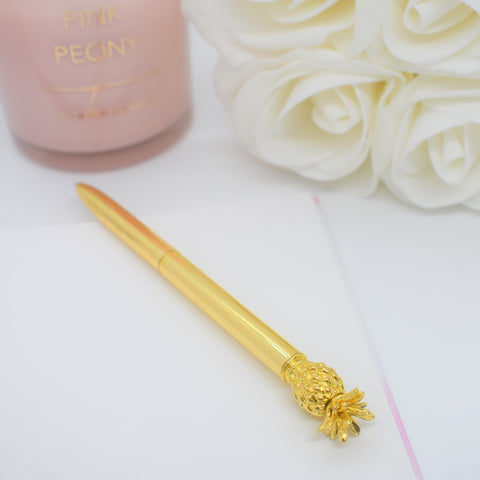 Gold Pineapple Pen