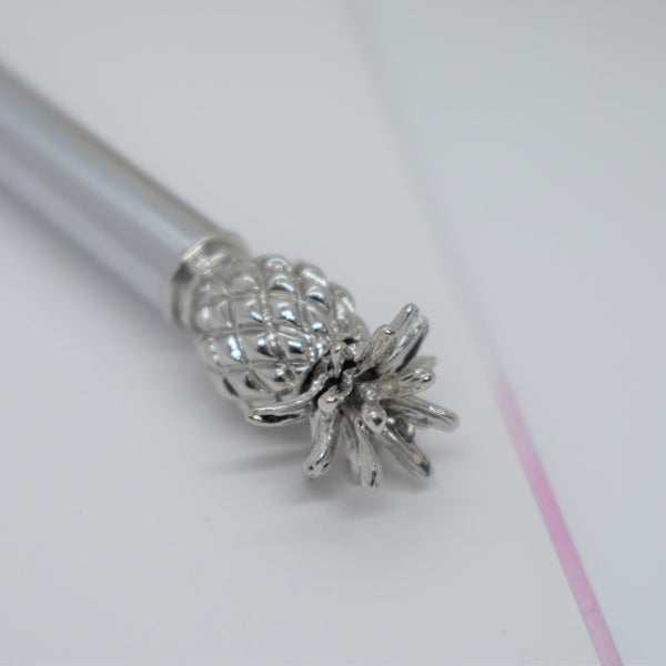 Silver Pineapple Pen