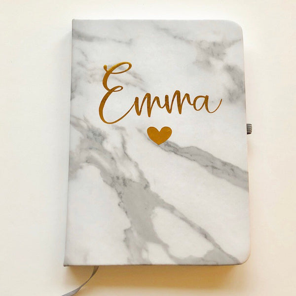 Personalised Marble Notebook