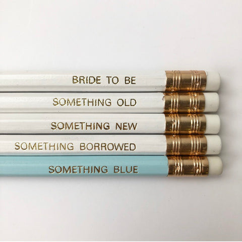Bride To Be Pencils