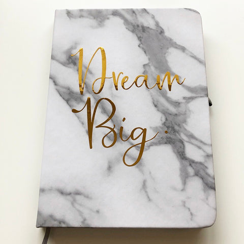 Dream Big Marble Notebook
