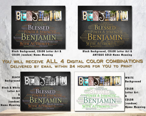 Benjamin Name Meaning Gift Idea for Birthday Christmas New Baby ...