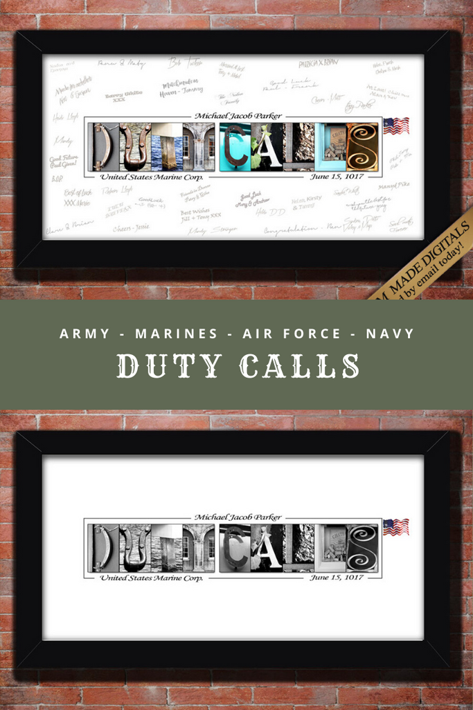 Military Deployment Military Going Away Party, Basic Training Gift, Military Party Guest book, Going Away Boot Camp Gift
