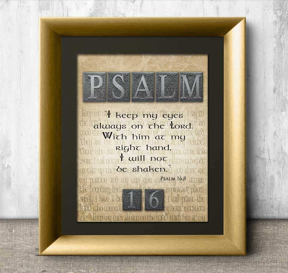 Spiritual Strength Psalm 16 from The Bible Book of Psalms, I keep my eyes always on the Lord