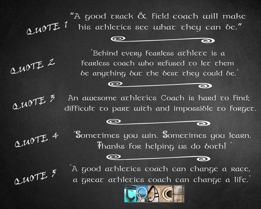 Athletics Coach, Track and Field, Running Coach Fitness Coach, High School Coach, Athletics Quote, Printable Coach Gift, Personalized Coach