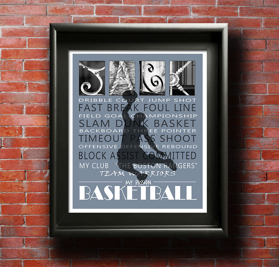 Basketball Gift Printable, Basketball Art, Gift For Basketball Player, Basketball Room Decor, Boy's Bedroom, Boys Room Decor, Birthday Gift