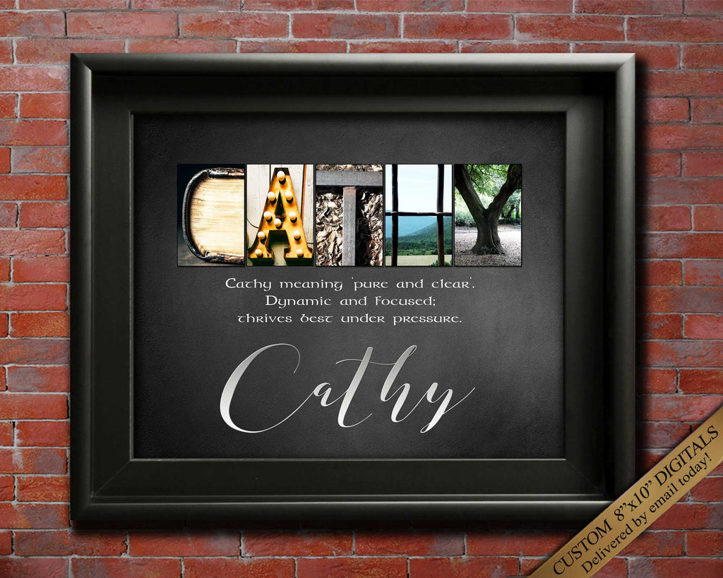 Personalized Gifts First Name Meaning | Custom Gift | Any Name A-Z | Letter Art | First Name Gift | Name Gift Ideas DIGITAL