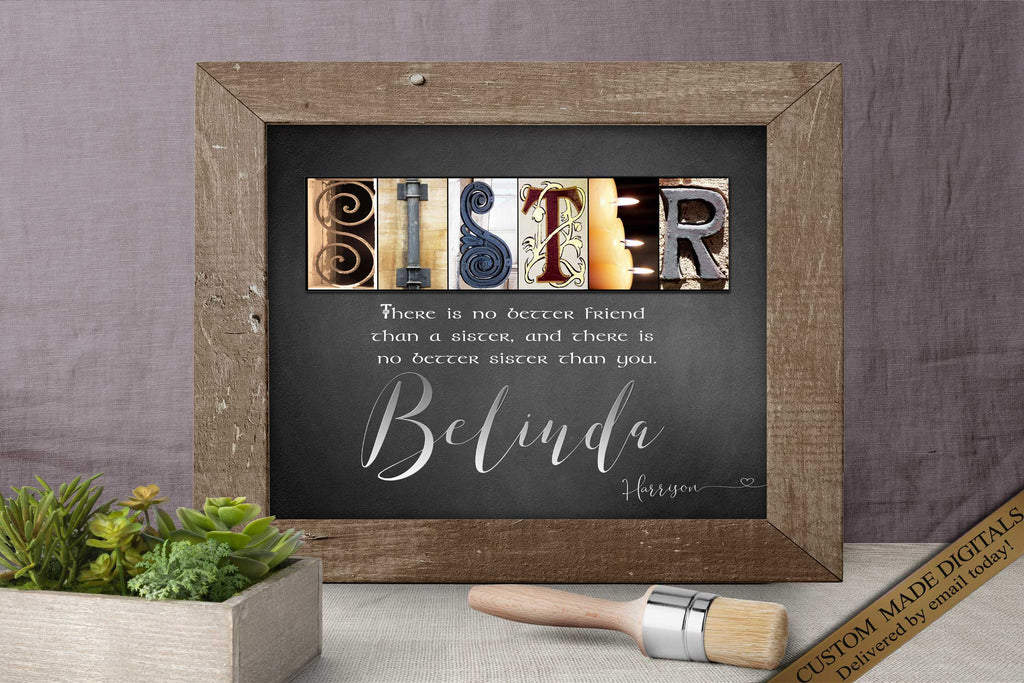 Sister Quotes, DIGITAL Sister Gifts Bridesmaid Gifts for Sister Birthday Sister Gift Ideas Wedding Sister Gift | Big Sister and Brother Gift
