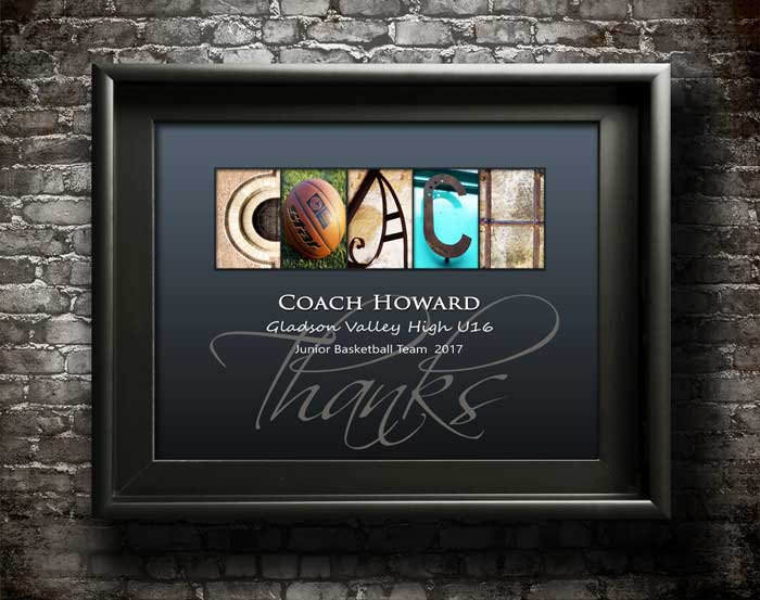 Basketball Trainer Gift, Personalized Coach Gift, Team Gift, Sports Manager Thank You Gift Printable