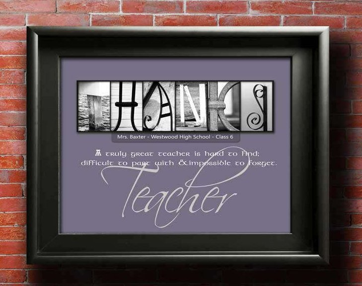 Teacher Gifts Thank You Teacher Gift Teacher Appreciation Gift From Pupil Student Class Gift For Teacher Personalized Gift PRINTABLE