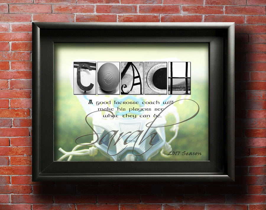 Lacrosse Coach Gifts Girls, Men Coach Gift, Boys Lacrosse Team Coach Personalized Coach Sports Décor Sports Art Goalie Coach