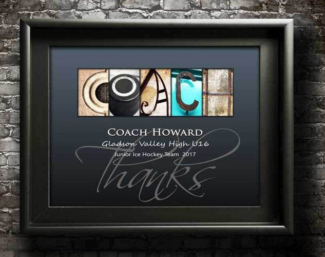 Hockey Coach Gift, Hockey Trainer Gift, Ice Hockey Coach Appreciation Gift, Hockey Team Gift, Hockey Mom Gift, Hockey Thanks Gift