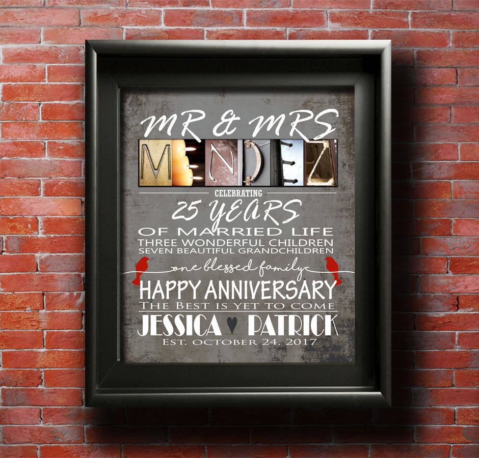 Parents Anniversary Gift, Personalized Anniversary Gift, Anniversary Card For Couple, Grandparents Anniversary Gifts, Mom and Dad