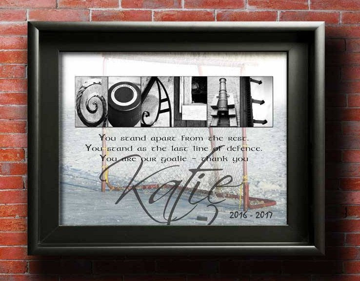 Hockey Goalie Gift, Personalized Hockey Goalie Award, Gift For Hockey Goalies, Hockey Goalie Thank You Team Gift, Hockey Goalie Mom