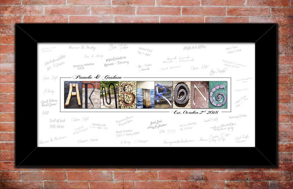 Personalized Wedding Guestbook, DIGITAL, Wedding Signature Gift, SPECIAL OFFER Matching Alphabet Art Name Printable Half Price, Guest Sign