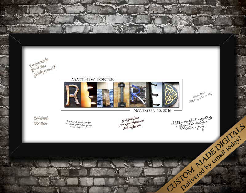 Retirement Gifts Retirement Sign Retirement Party Ideas Retirement G Letter Art Gifts