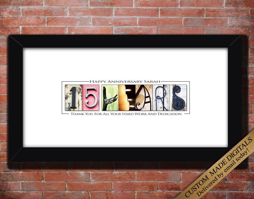 Worker Thank You Gifts 15 Year Work Anniversary Gift, Employee Gift, Ten Fifteen Twenty Thirty Year Employee Anniversary