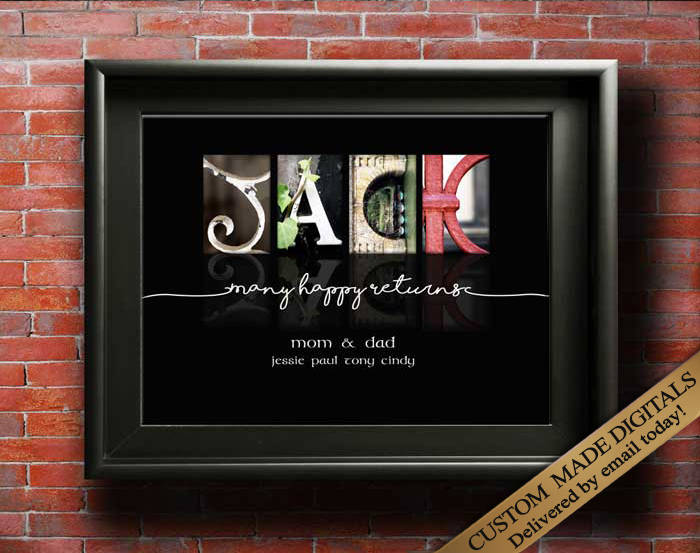Custom Birthday Gift, Printable Birthday Gift, Birthday Gift For Him, Birthday Gift For Friend, Birthday Gift For Son Brother Uncle