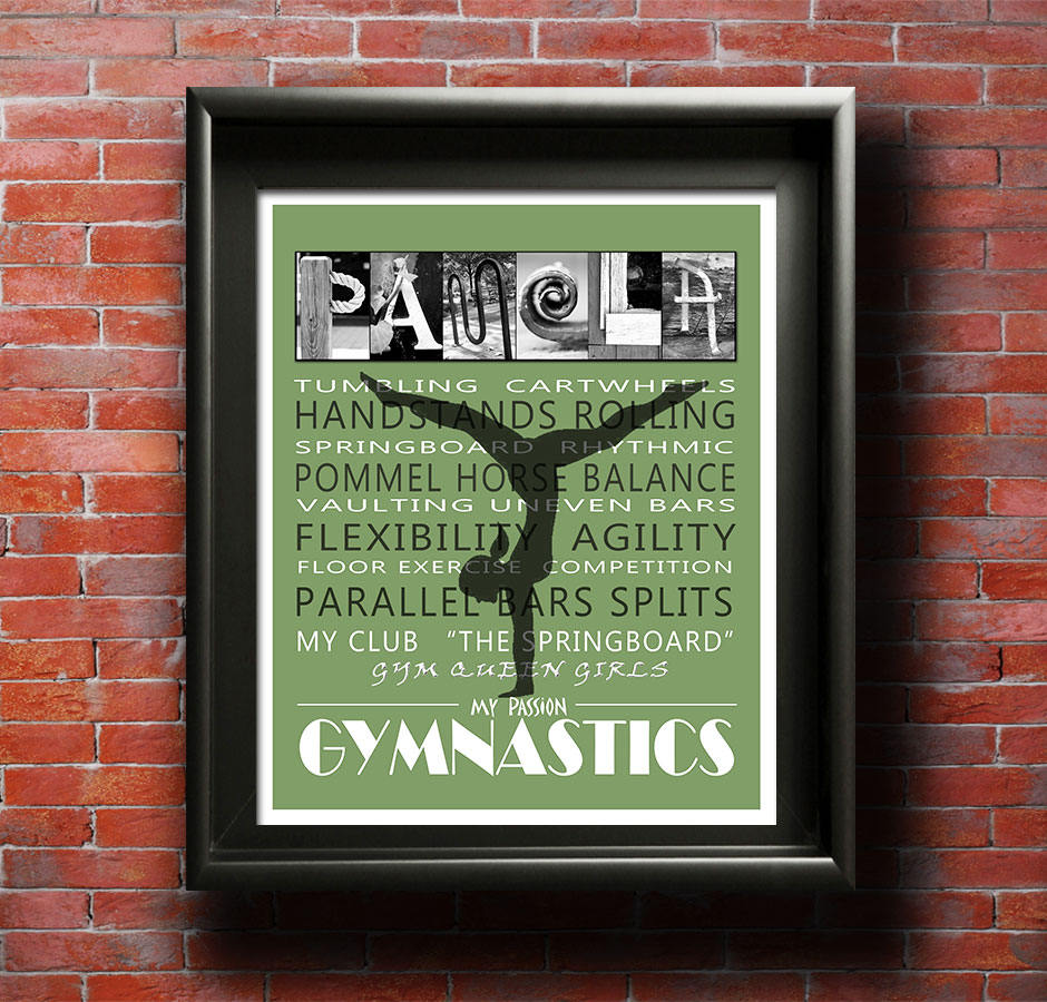 Gymnastics Gift, Gymnastics Party, Gymnastics Birthday Gift, Girl's Bedroom, Girls Room Decor, Birthday Gift for Gymnast, Gym Art
