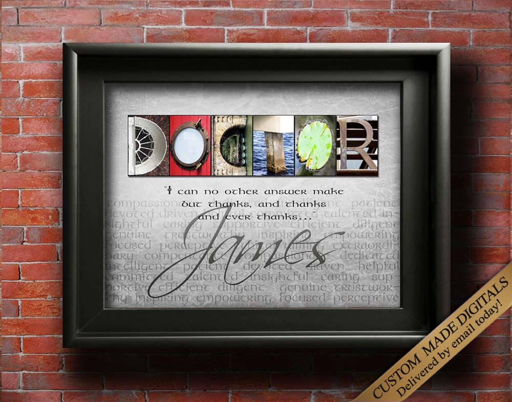 Doctor Gift, Gift for Doctor, Personalized Doctor Gift, Doctor Gift Ideas, Doctor Thank You, Surgeon Gift, Medical Doctor Gift, Doctor