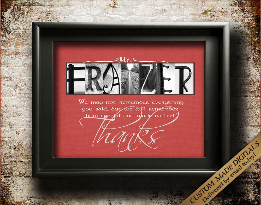 Teacher Appreciation Gift For Teacher Thank You Teacher Gift Teacher Quote Student Teacher End of year teacher life unique teacher gift JPG
