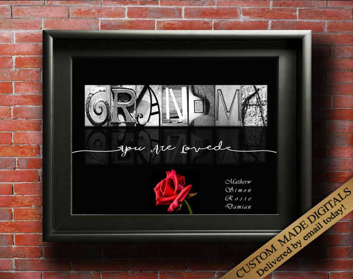 Gift For Grandma, Custom DIGITAL, Birthday Gift For Grandma, New Grandparent Gift, Grandmother Gift, Promoted Grandma, Grandmother Printable
