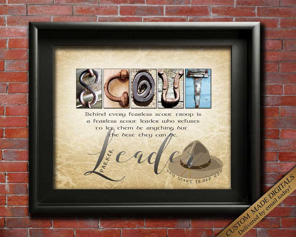 Scout Leader Gift, Scout Master Gift, Girl Scout Leader Gift, Boy Scout Leader Gift, Scout Troop Leader, Gift For Scout Leader