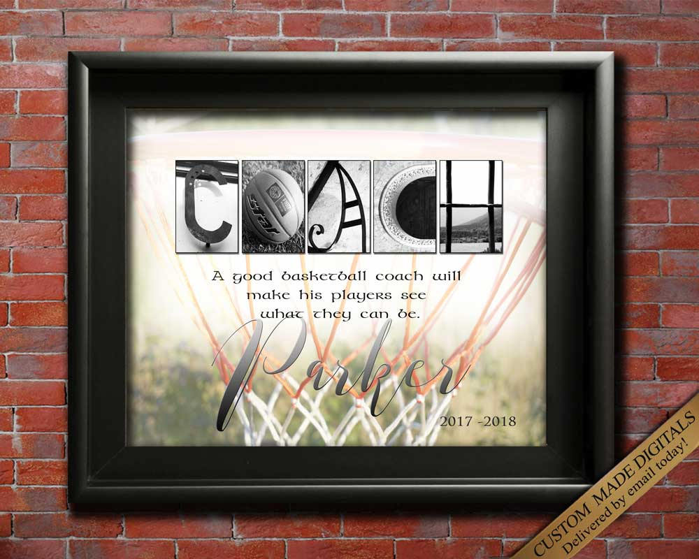 Basketball Coach Gift Personalized Basketball Gift Idea Basketball Mom Gift Basketball Team Gift for Coach Thank You Custom Coach Retirement