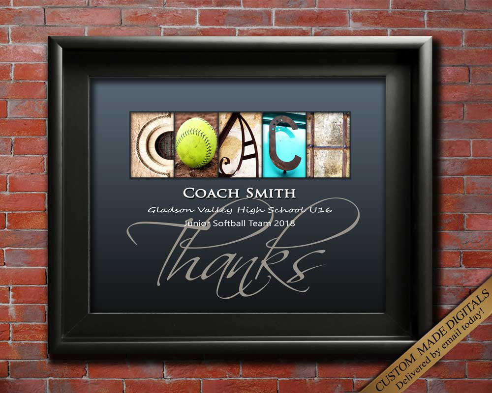 Gift For Softball Coach, Gift For Volleyball Coach, Golf Coach Gift, Cricket Coach Gift, Softball Mom, Team Gift Football coach Gift
